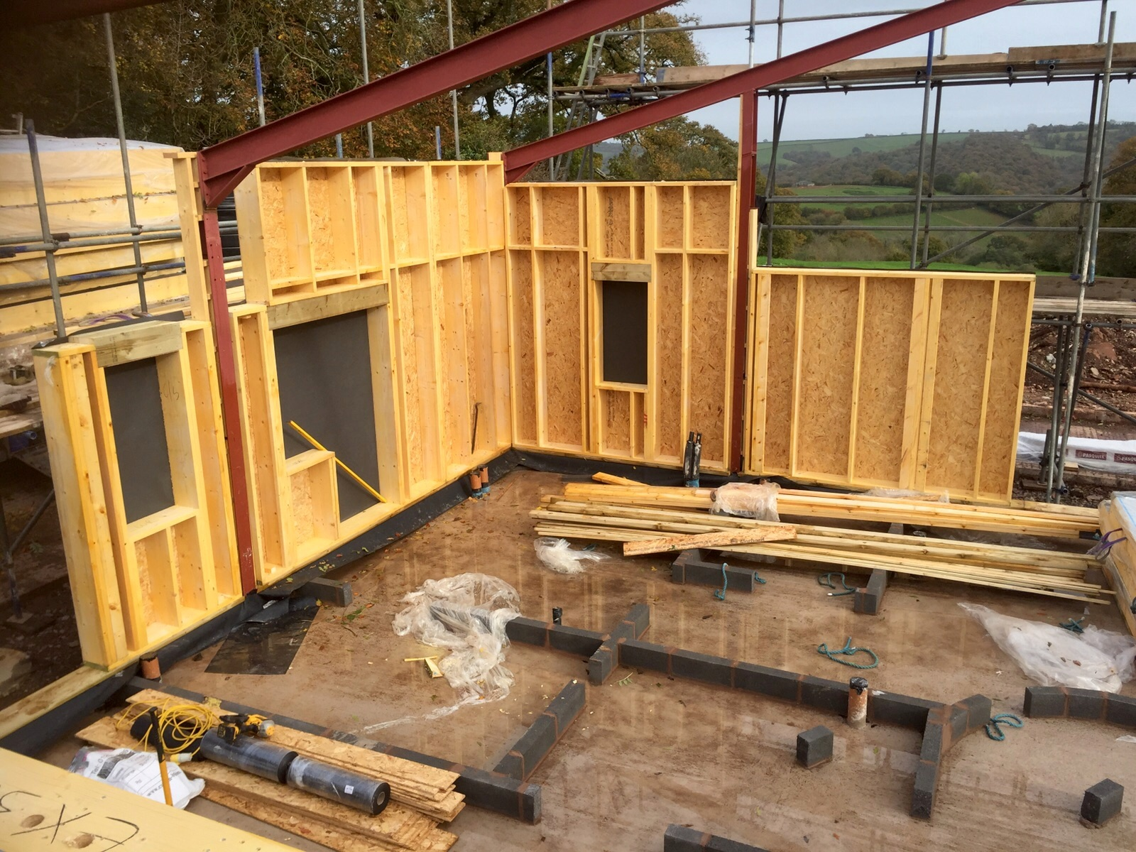 Barn conversion bickleigh all timber frames for Panel house construction